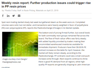 plastics today: Weekly Resin Report: Further production